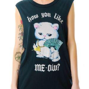 UNIF Like Meow Muscle Tee